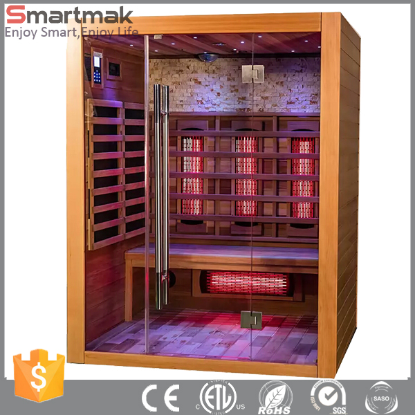 Canadian Hemlock Solar Infrared Sauna With Culture stone