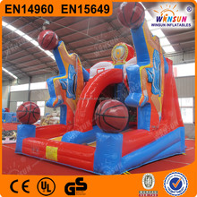 most popular amusement park CE approved inflatable basketball shooting game