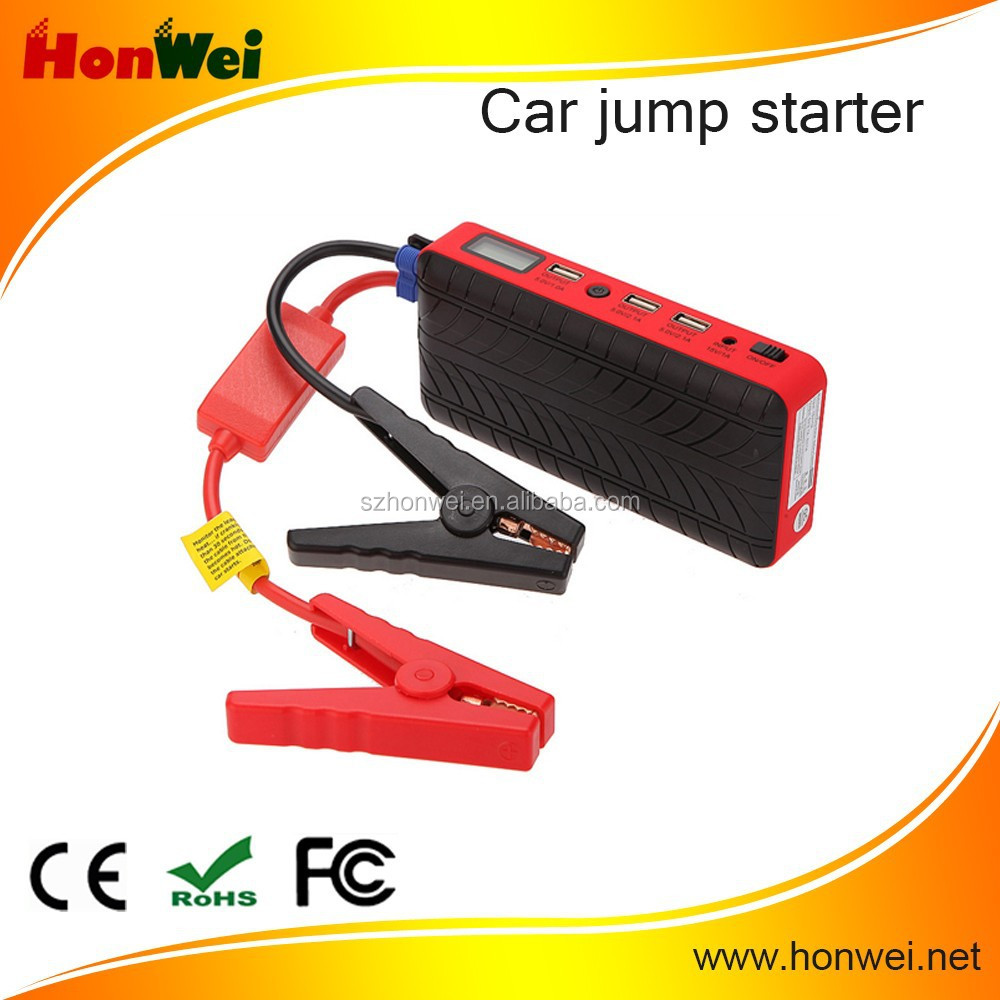 multi-function jump starter 12v 300 am car jump starter power bank 30000mah power supply mini booster for car