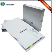 Hard paper Office stationery file folder with slipcase