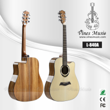 L-840A 41' good quality spruce top zebrawood acoustic guitar guangzhou factory