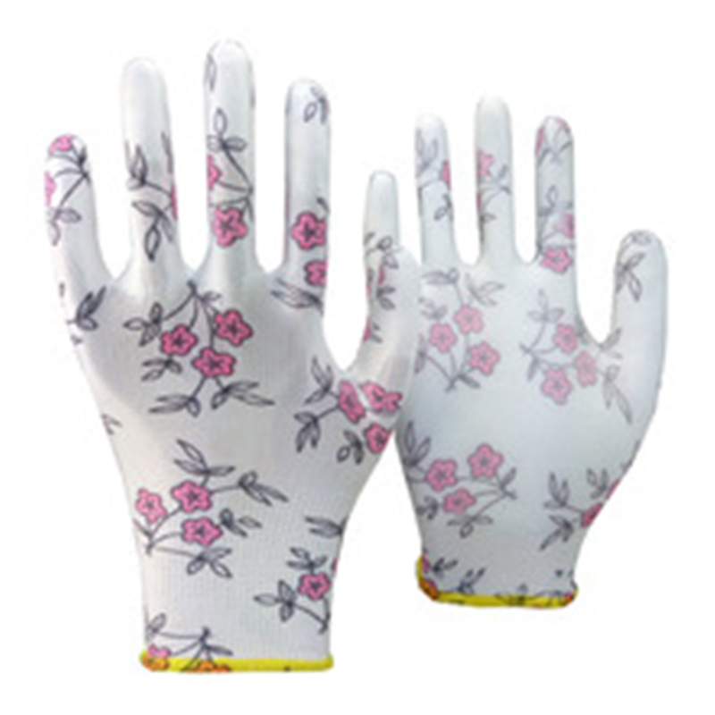 Brand MHR FREE SAMPLE CE test white polyester coated PU hand protect gloves EN388 3131