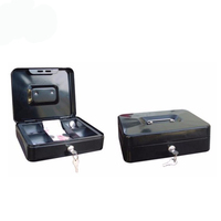 250*200*75Mm High Safety Steel Protection Bank Small Metal Money Cash Box With Coin Slot