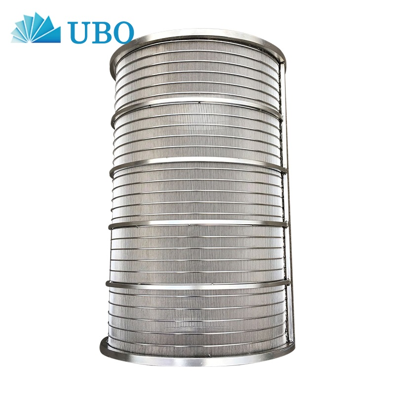 welded stainless steel inverted wrapped v wedge wire strainer backwash pipe