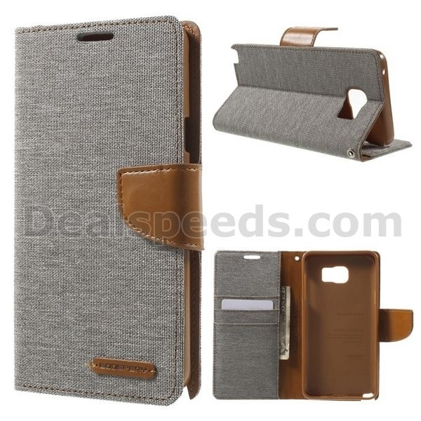 MERCURY GOOSPERY Canvas Leather Shell for Samsung Galaxy Note 5