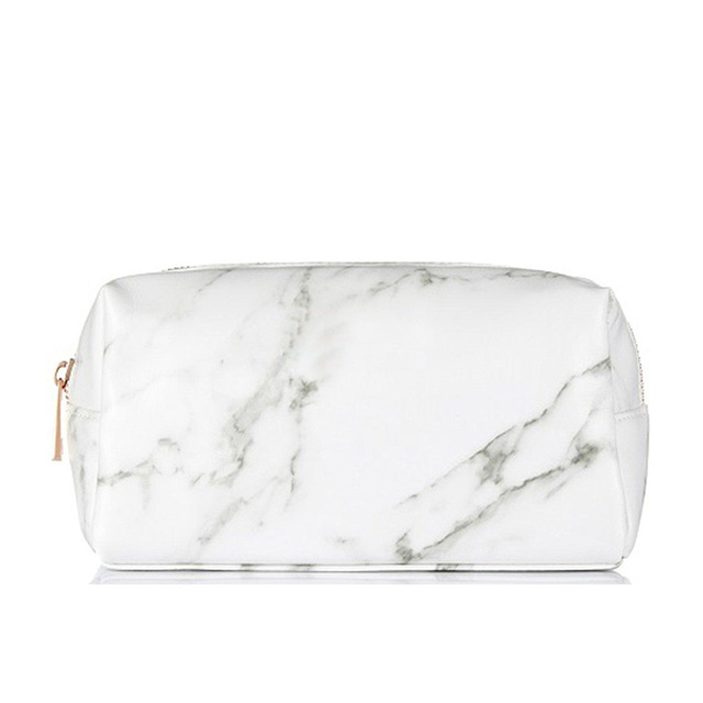Marble White Make-up pouch Cosmetic Bag