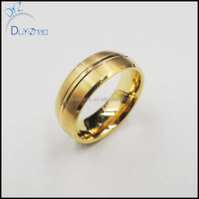 Top sale gold plated ring wedding mens tungsten ring