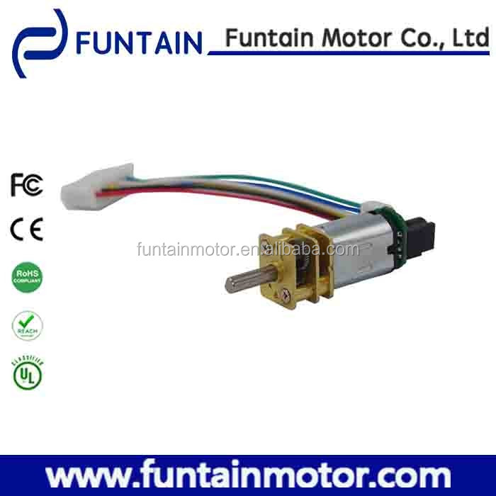 High quality 12mm dc gear motor N20 3v 60rpm with magnetic encoder for Robotics