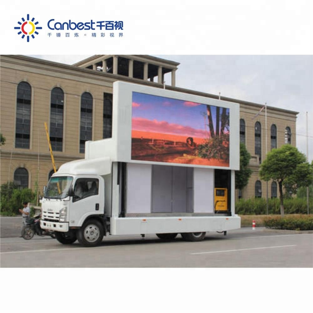 Outdoor P5 P6 <strong>P10</strong> SMD led video wall screen / mobile truck mobile led display