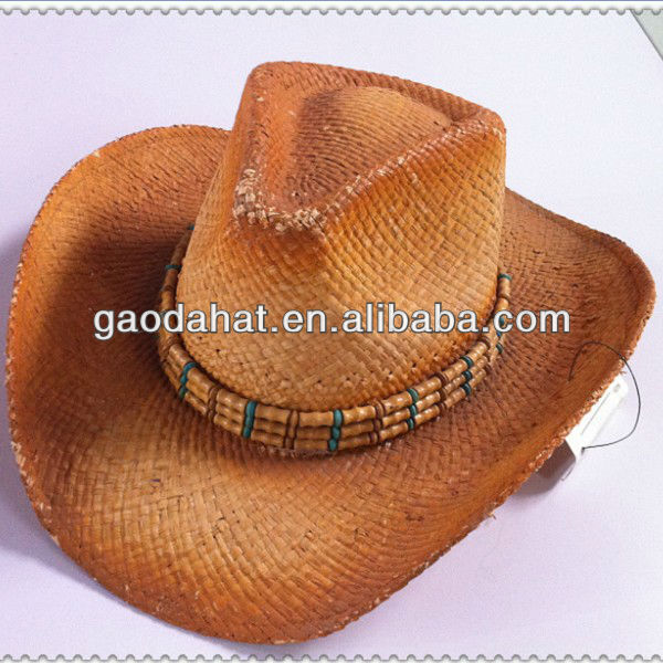 Men's Sombrero Straw Hat With Lace