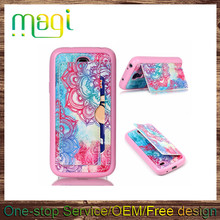 Printing Leather Back Case for Samsung S4mini I9190 Stand TPU Leather Case