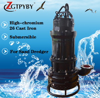 50HP high quality submersible sand dredging pump for dredger large flow 37KW submersible water pump sand pump for sale