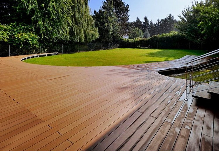 Duurzaam Anti-kras waterdichte outdoor co-extrusie decking