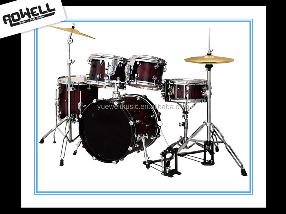 High Grade Lacquer Gradient Acoustic 5-pcs Drum Set