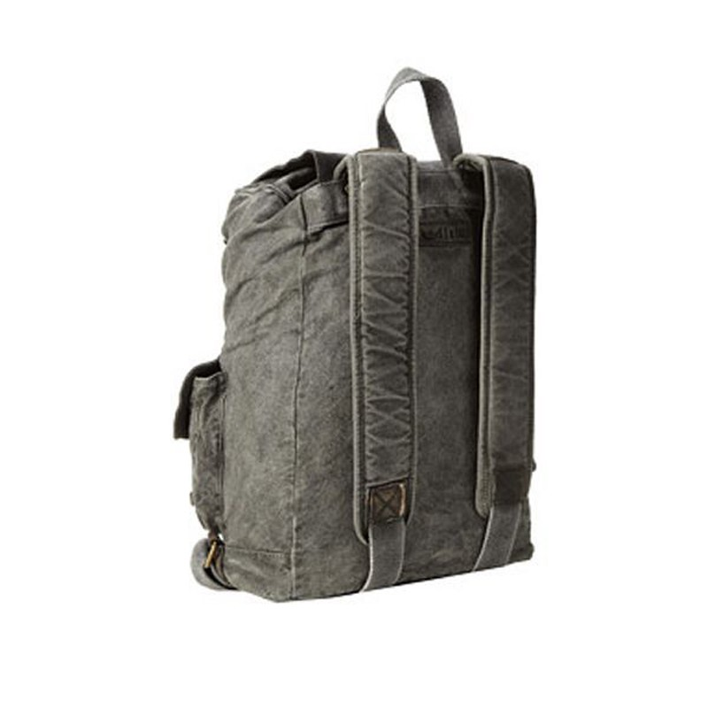 leisure canvas backpack with leather cover
