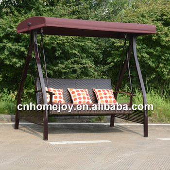 3 seat rattan swing chair, rattan hanging swing chair