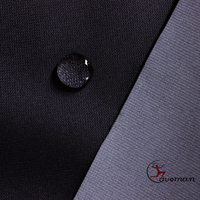 Black PA Milky Coating coated full dull School Uniform Polyester pongee fabric