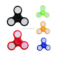 High Quality LED light Hand Tri-Spinner r 188 Bearing Toy Finger Toy Hand Spinner Fidget with LED light on/off swith