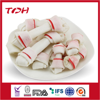 Rawhide Knotted Bone Inserted With Red Rawhide Piece import dog food products