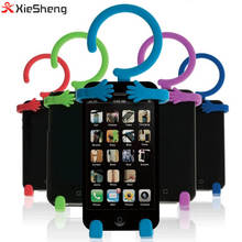 Xiesheng multifunction Flexible Cell Phone Holder Silicone Bike Car Home Mobile Hanger Mount for Smart phone