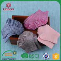 China Factory Cheap Double Color Yarn Kids Wholesale Bulk Cotton Tube Socks