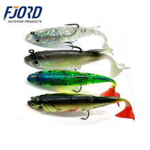 FJORD 80mm 14g lead head soft body fishing lure deep diving lure with rigged trible hook