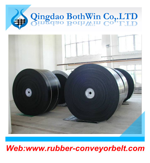 Rubber conveyor belt for batching plant and asphalt