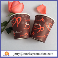 Party custom design with lid paper cup take away