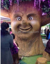 Huge Magic Wish Talking Tree with Artificial Human Face