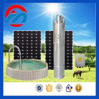 AC/DC submersible solar powered water pump for farm irrigation