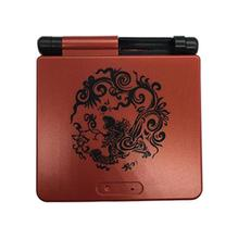 Hard Case Shell for GameBoy Advance for GBA SP Custom Shell Chinese Dragon Red Black