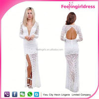 Wholesale white cheap adult elegant evening dress online shopping in stock