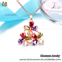 Alibaba hot sale multi color crystal flower necklace from crystal cube firejewel necklace. suppliers