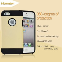 Waterproof Phone Case Slim Armor Case 2 in 1 for iphone 5 5S