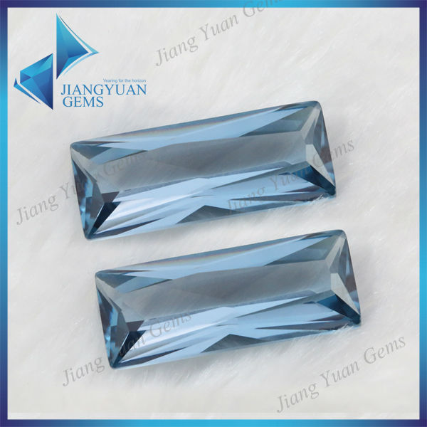 New Product Emerald Cut Sapphire Glass Gemstone
