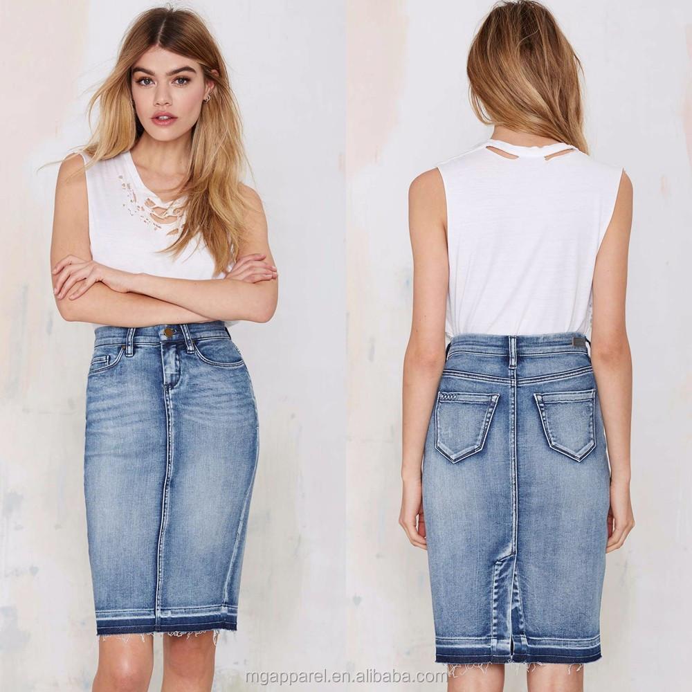china wholesale fashion jean skirts 2015