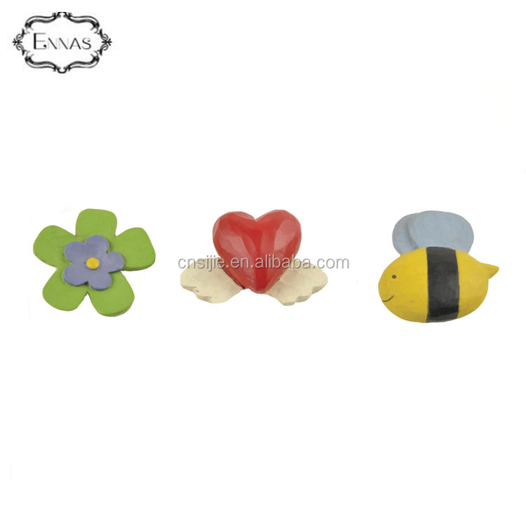 Hot sell fridge magnets resin flower/heart/bee magnets decorative gadgets