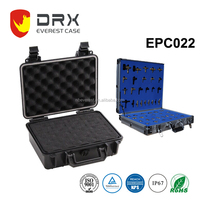 hard plastic light weight carrying cases waterproof instrument for sample with custom foam