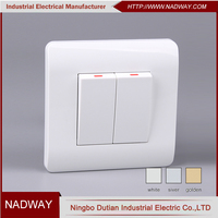 home 10A 250V EU standard light two gang one way switch