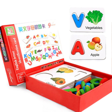 Wooden Educational Toys for Kids Puzzle game Alphabet Letter
