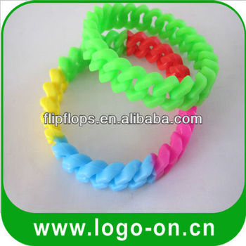 colorful silicone chain bracelets 2015