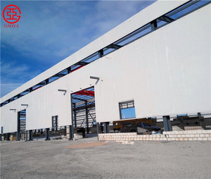 Light metal steel structure warehouse building with large span