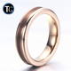 Factory 4mm rose gold wholesale blanks channel inlay ring for inlay