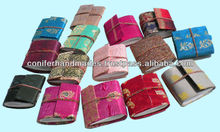 Sari Fabric Covered Mini Journals for Collectors, Doll Houses, Jewelry Designers