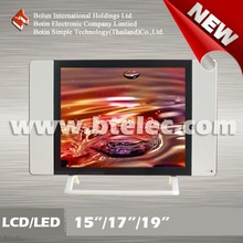 Low price lcd tv parts to assemble white frame tv
