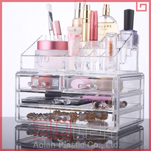 Good quality retail clear acrylic cosmetic makeup organizer storage box