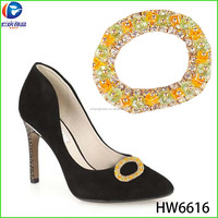 The round colorful bling shoes buckle changeable bead rings