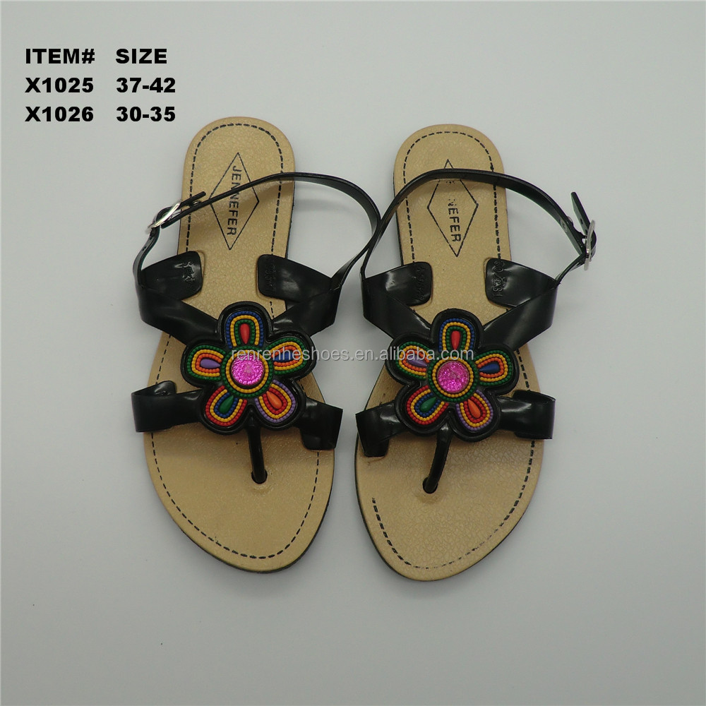 2017 fashion cheap PVC flip top sandals shoes women