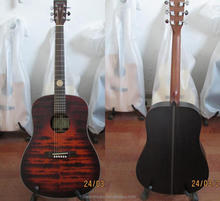 Weifang Rebon 41 size solid laser carved acoustic guitar