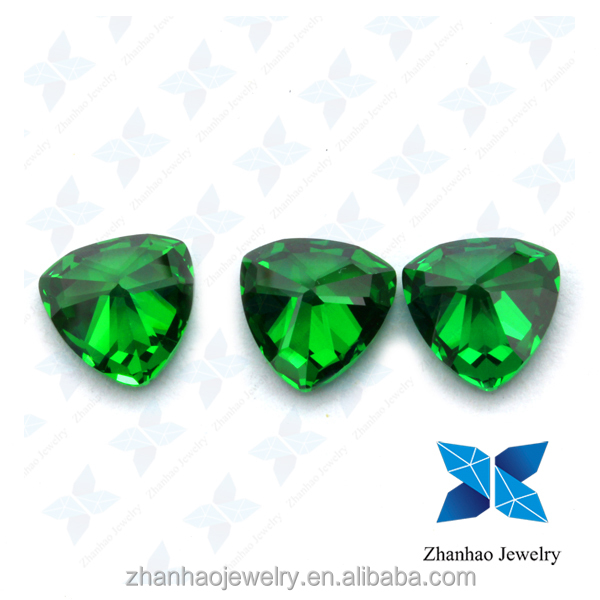 wholesale faceted trillion shape machine cut green tourmaline gemstone prices